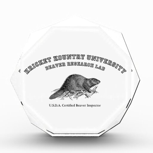 Kricket Kountry University, Beaver Research Lab Acrylic Award
