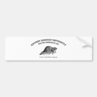Kricket Kountry University, Beaver Research Lab Car Bumper Sticker