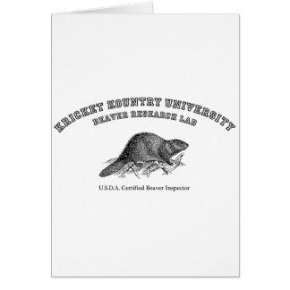 Kricket Kountry University, Beaver Research Lab Greeting Card