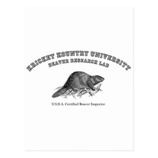 Kricket Kountry University, Beaver Research Lab Postcard