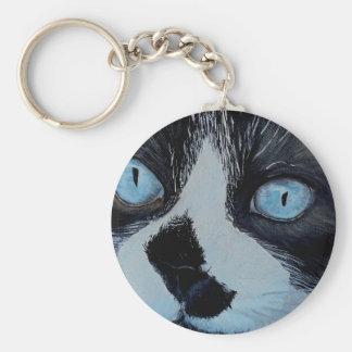 Kricket the Ragdoll Cat Keychain