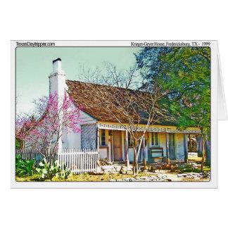 Krieger-Geyer Home, Fredericksburg, TX Card