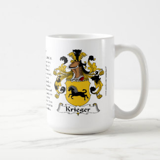 Krieger, the Origin, the Meaning and the Crest Coffee Mug