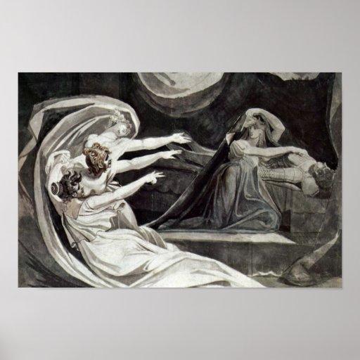 Kriemhild Is Haunted By Her Gewissenbissen By Füss Poster