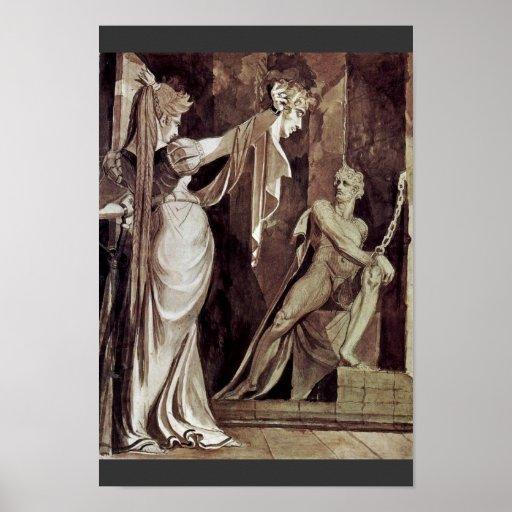 Kriemhild Shows The Main Hagen Gunther By Füssli J Print
