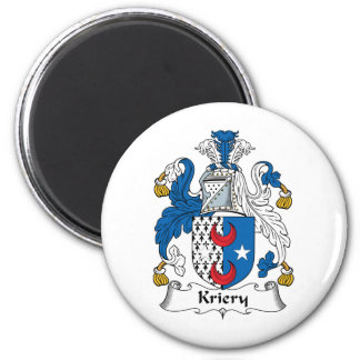 Kriery Family Crest 2 Inch Round Magnet