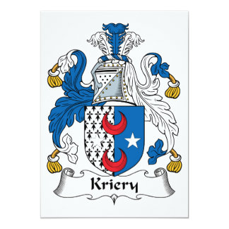 Kriery Family Crest 5x7 Paper Invitation Card