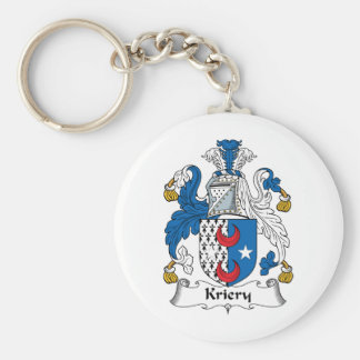 Kriery Family Crest Basic Round Button Keychain