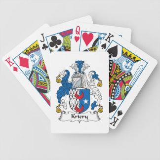 Kriery Family Crest Bicycle Playing Cards