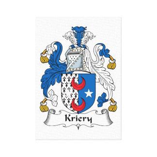 Kriery Family Crest Canvas Print