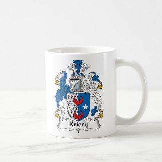 Kriery Family Crest Classic White Coffee Mug
