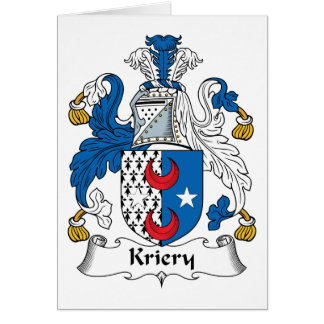 Kriery Family Crest Greeting Card