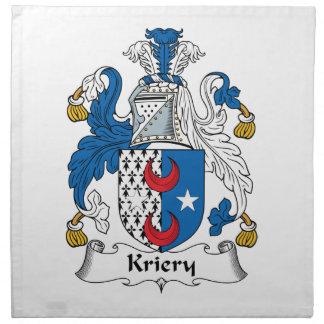 Kriery Family Crest Napkin
