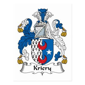 Kriery Family Crest Postcard