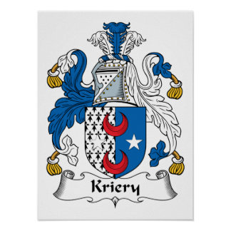 Kriery Family Crest Poster