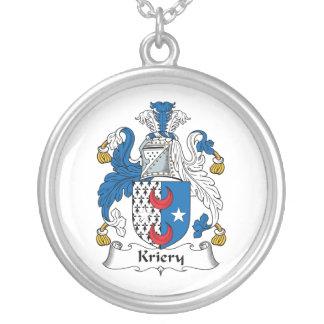 Kriery Family Crest Round Pendant Necklace