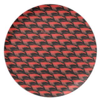 Krill Pattern in Black Melamine Plate