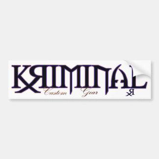 Kriminal Custom Gear Sticker, RX Bumper Stickers