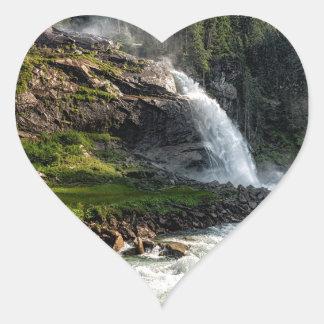 krimml waterfall, Austria Heart Sticker