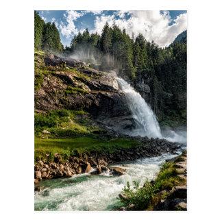 krimml waterfall, Austria Postcard
