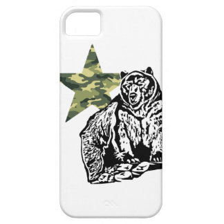 Kris Alan Grizzly bear Camouflage iPhone SE/5/5s Case