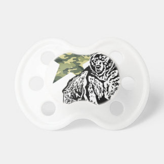 Kris Alan Grizzly bear camouflage Pacifier