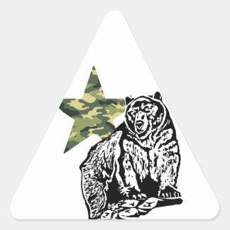 Kris Alan Grizzly bear camouflage Triangle Sticker