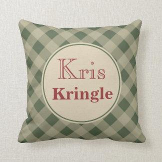Kris Kringle Christmas Pillow