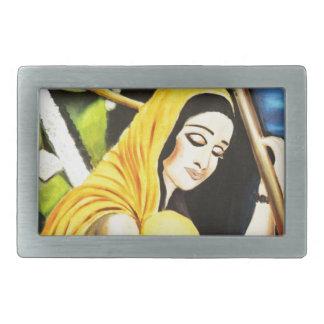 Krishna and Meera Belt Buckle