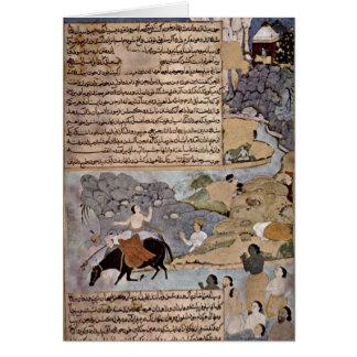 Krishna And Pandavas By Master Of Razmere-Nama Greeting Card