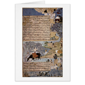 Krishna And Pandavas By Master Of Razmere-Nama Greeting Cards