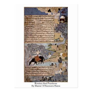 Krishna And Pandavas By Master Of Razmere-Nama Post Card