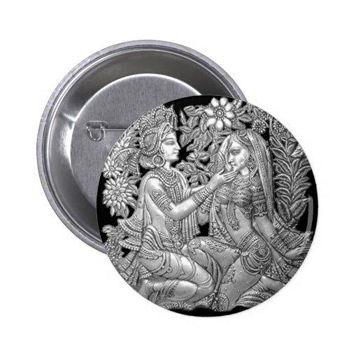 Krishna and Radha 2 Inch Round Button