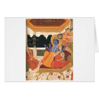 Krishna and Radha Card
