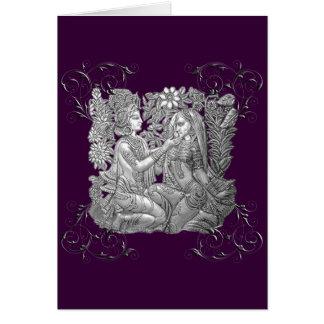 Krishna and Radha greeting card