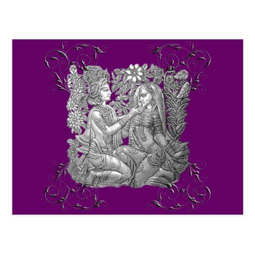 Krishna and Radha Post Card
