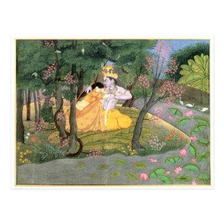 Krishna and Radha Postcard