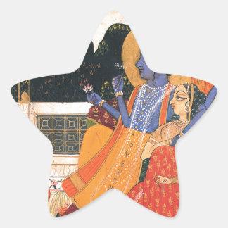 Krishna and Radha Star Sticker