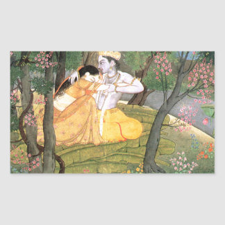 Krishna and Radha Rectangular Sticker