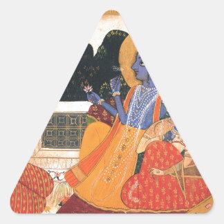 Krishna and Radha Triangle Sticker