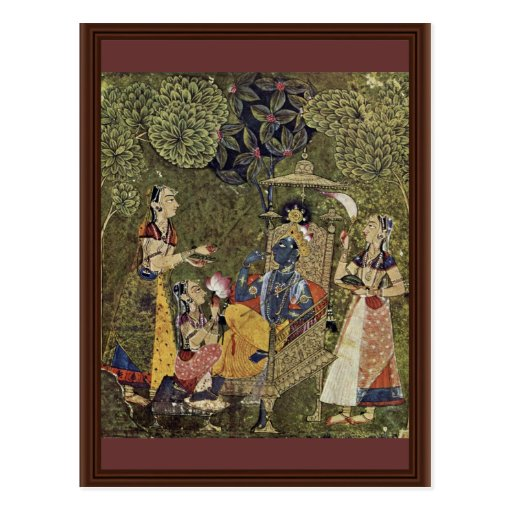 Krishna And The Girls By Indischer Maler Um 1710 ( Postcards