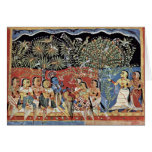 Krishna And The Gopas Forest By Westindischer Male Card