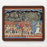 Krishna And The Gopas Forest By Westindischer Male Mouse Pad