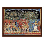 Krishna And The Gopas Forest By Westindischer Male Postcard