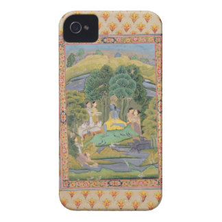 Krishna and the Gopis (gouache on paper) iPhone 4 Cover
