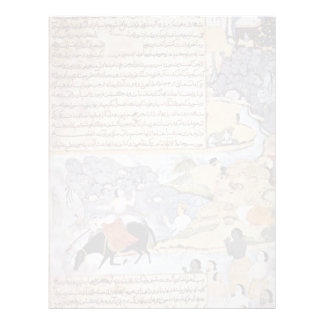 Krishna And The Pandavas Water Their Horses By Mei Letterhead