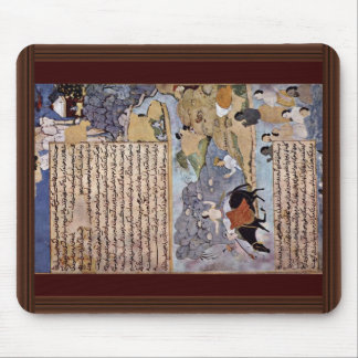 Krishna And The Pandavas Water Their Horses By Mei Mouse Pad