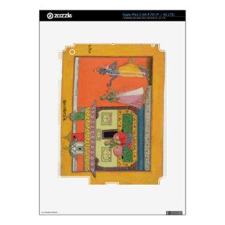 Krishna arriving at Radha's house, illustration fr iPad 3 Decals