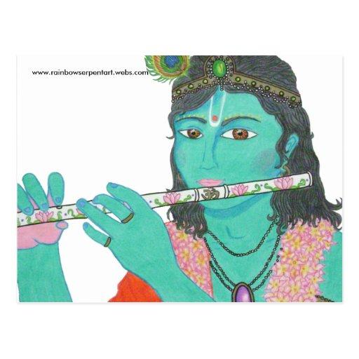 Krishna Is Love T-Shirt Final, www.rainbowserpe... Postcards