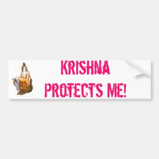 ¡Krishna me protege! Pegatina De Parachoque